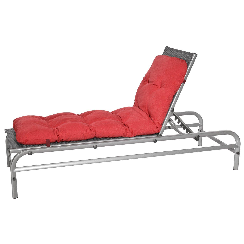 Unique coussin de chaise longue id es de salon de jardin - Matelas pour chaise longue ...