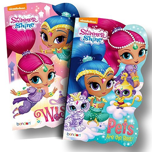 Disney Baby Toddler Board Books - Set of 2 (Shimmer and Shine Board Books)