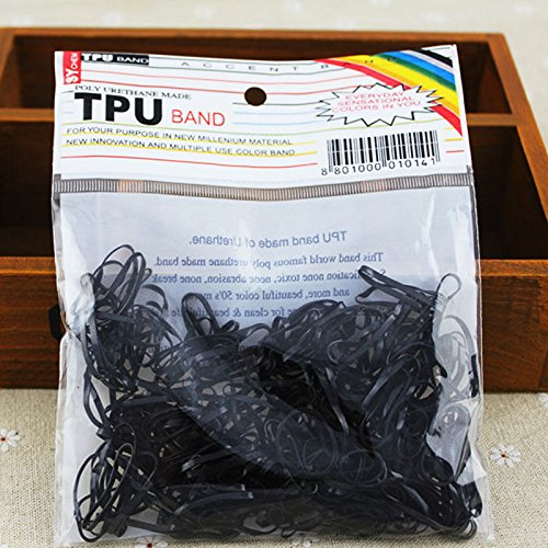 (Rubber Bands - Thick Rubber Bands - Black Rubber Bands - Ranger Bands - 300pcs/pack Rubber Rope Ponytail Holder Elastic Hair Bands Ties Braids Plaits hair bands Hair Accessory 2 Colors (Black))