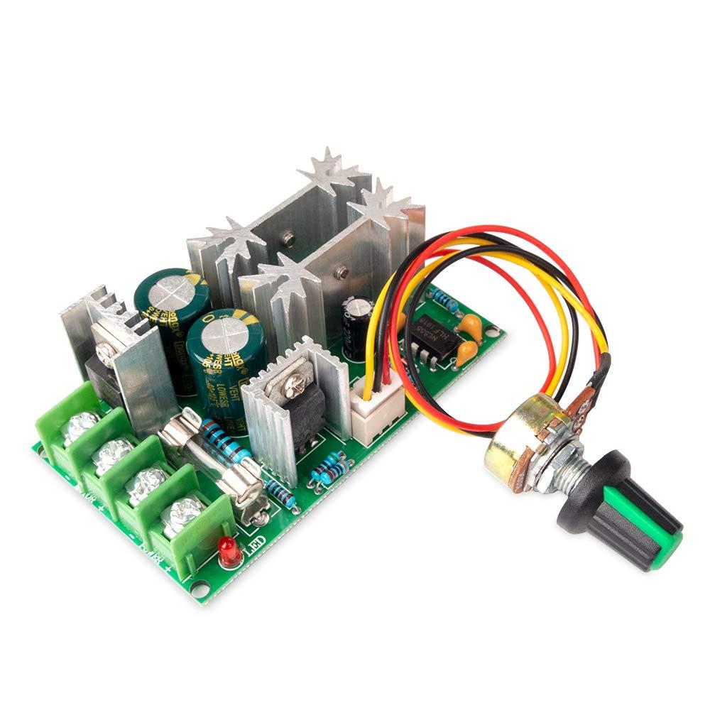 Controlador de Velocidad del Motor CC 12V 24V 36V 48V 20A Regulador de Corriente PWM Velocidad Ajustable Regulador de Voltaje Módulo de Accionamiento para Motor
