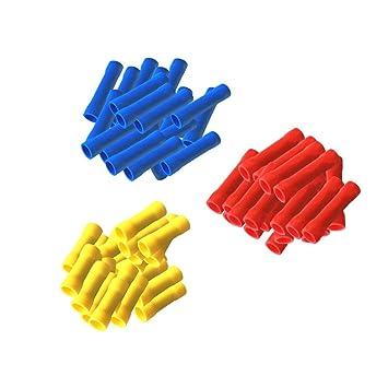 Stossverbinder isoliert 300 Set 100x Rot + 100 x Blau +: Amazon.de ...