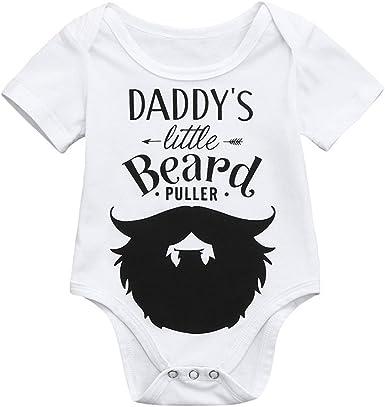 Infant Baby Boys Bodysuit Short-Sleeve Onesie Heart Pattern Print Jumpsuit Autumn Pajamas