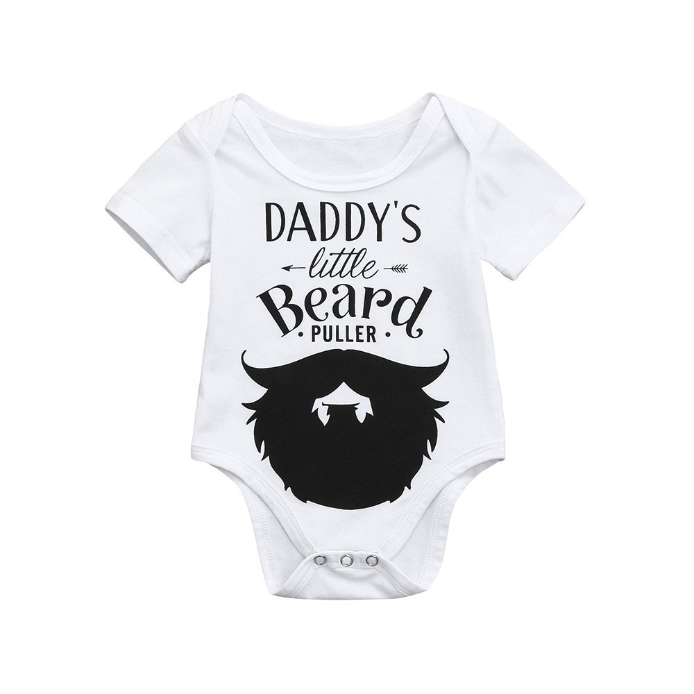 ac3132737f26 Amazon.com  Sameno Cute Newborn Kids Baby Boys Girls Letter Beard ...