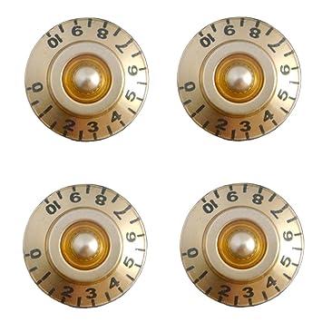 4pcs  Control Knob Schalter Weiß Nummer für LP EPI Guitar