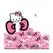 Dual Toggle Wall Switch Cover Plate Decor Wallplate - Hello Kitty Pink Bow