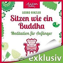 Sitzen wie ein Buddha: Meditationen für Anfänger (Achtsam leben) Hörbuch von Lodro Rinzler Gesprochen von: Irina Scholz