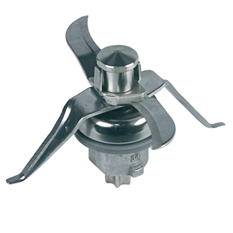 PIESSEONLINE Compatible con 4 Cuchillas y Junta para Robot de Cocina Thermomix, inserción para Cuchillos
