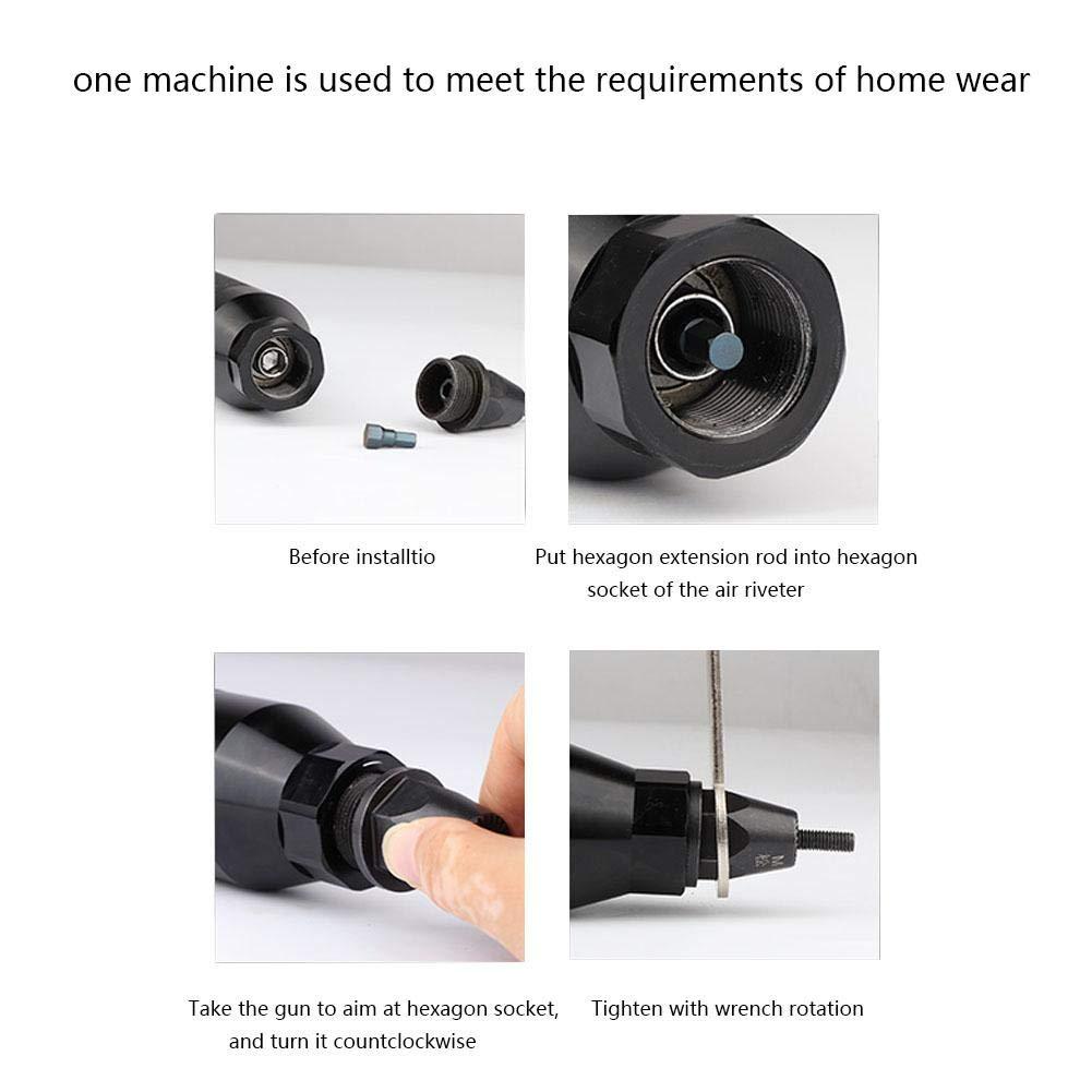 Air Riveter Gun Pull Nut Automatic Pneumatic Riveting Nut Gun Tool(M8/M10) by Wal front (Image #5)