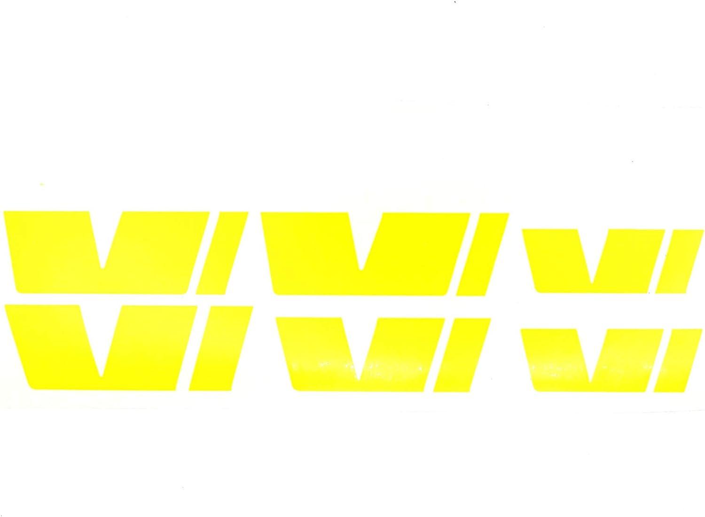 R017 Stickerbomb Finest-Folia Emblem Folie Set passgenau f/ür Innenfl/ächen Skin Logo Aufkleber K/ühlergrill