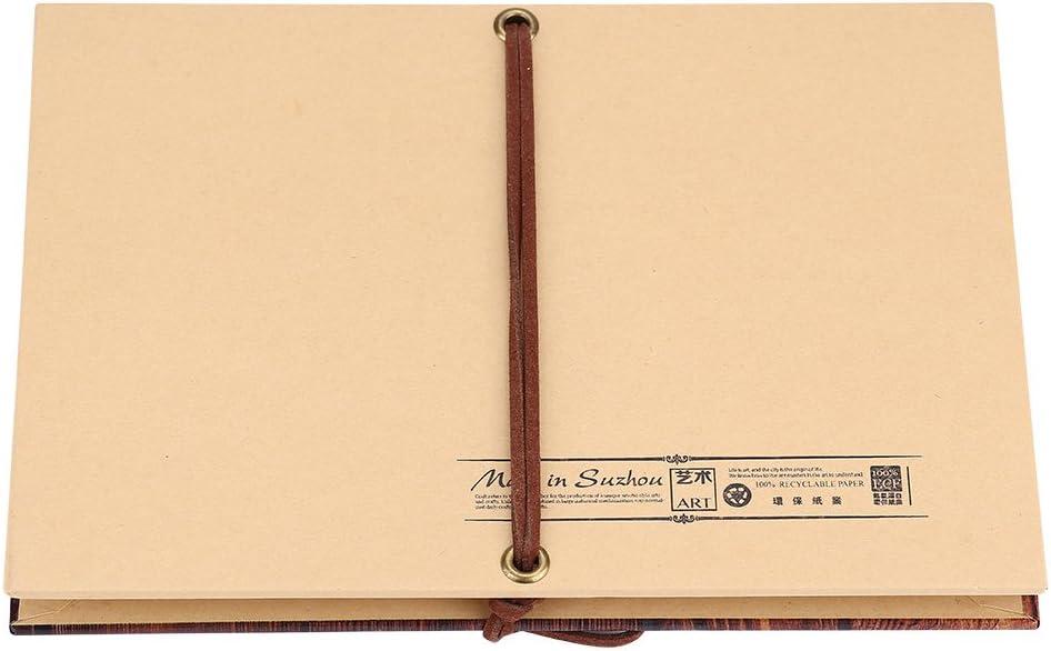 8.27 /× 5.91 /× 0.39in GOTOTOP DIY Scrapbook Album Craft Vintage Style Accordion Foldable Kraft Paper Photos Scrapbook Handmade Creative Crafts