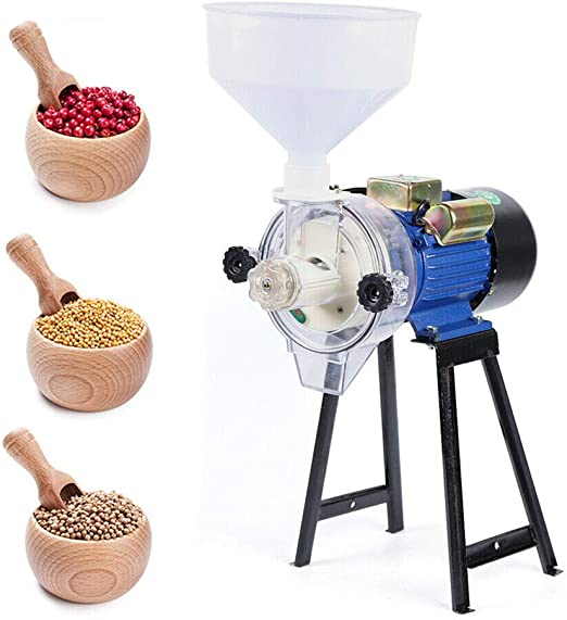 Funnel 110V Electric Mill Grinder Cereals Corn Grain Coffee Wet Dry Wheat Feed
