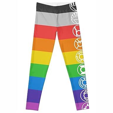 d0fc01eb5d01e candice elsa Women Leggings Elastic Fitness Rainbow Strip Printed Female  Pants zjl040 (S-XL