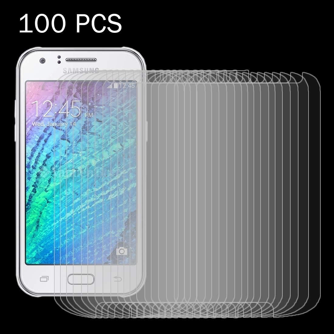 JIANGNIUS 100 PCS for Galaxy J1 Ace J110 0.26mm 9H Surface Hardness 2.5D Explosion-Proof Tempered Glass Screen Film