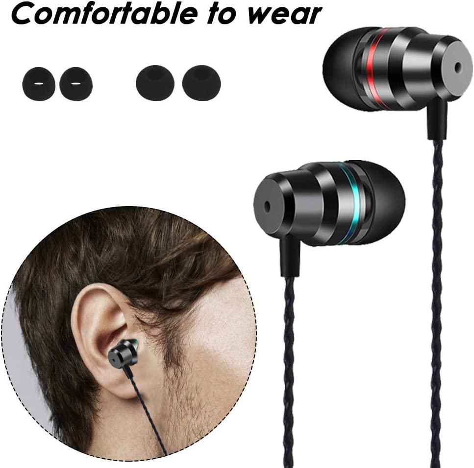 Laptops AFUNTA in-Ear Headphone Surround Sound Compatible with Android Smart Phones USB-C 3.5mm Headphone Audio Adapter /& Earbud Headphone