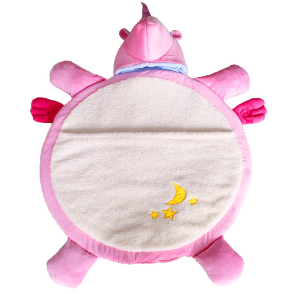 Luckym Pink Unicorn Sleeping Bag Cartoon Animal Unicorn Slumber Bags Playmats for Baby