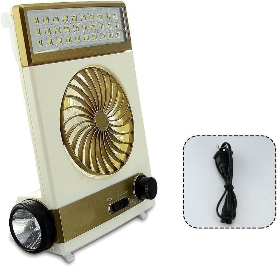 Ventilador Portátil 3 En 1 Multi-Función Mini Fan LED Lámpara De Mesa Linterna Luz Solar Para El Hogar Que Acampa Ventilador Solar Para Al Aire Libre