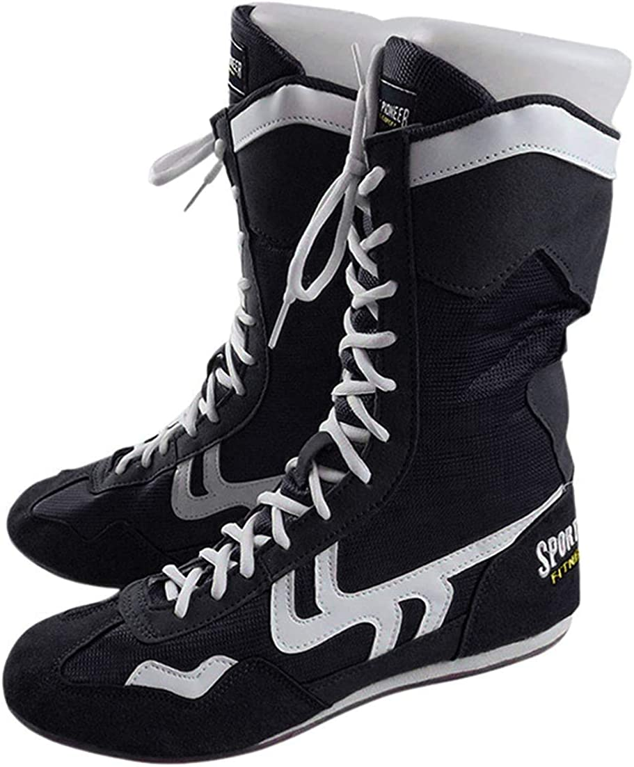 | Sport Pioneer High Top Boxing Shoes Boxer Boots for Men Women Kids | Wrestling