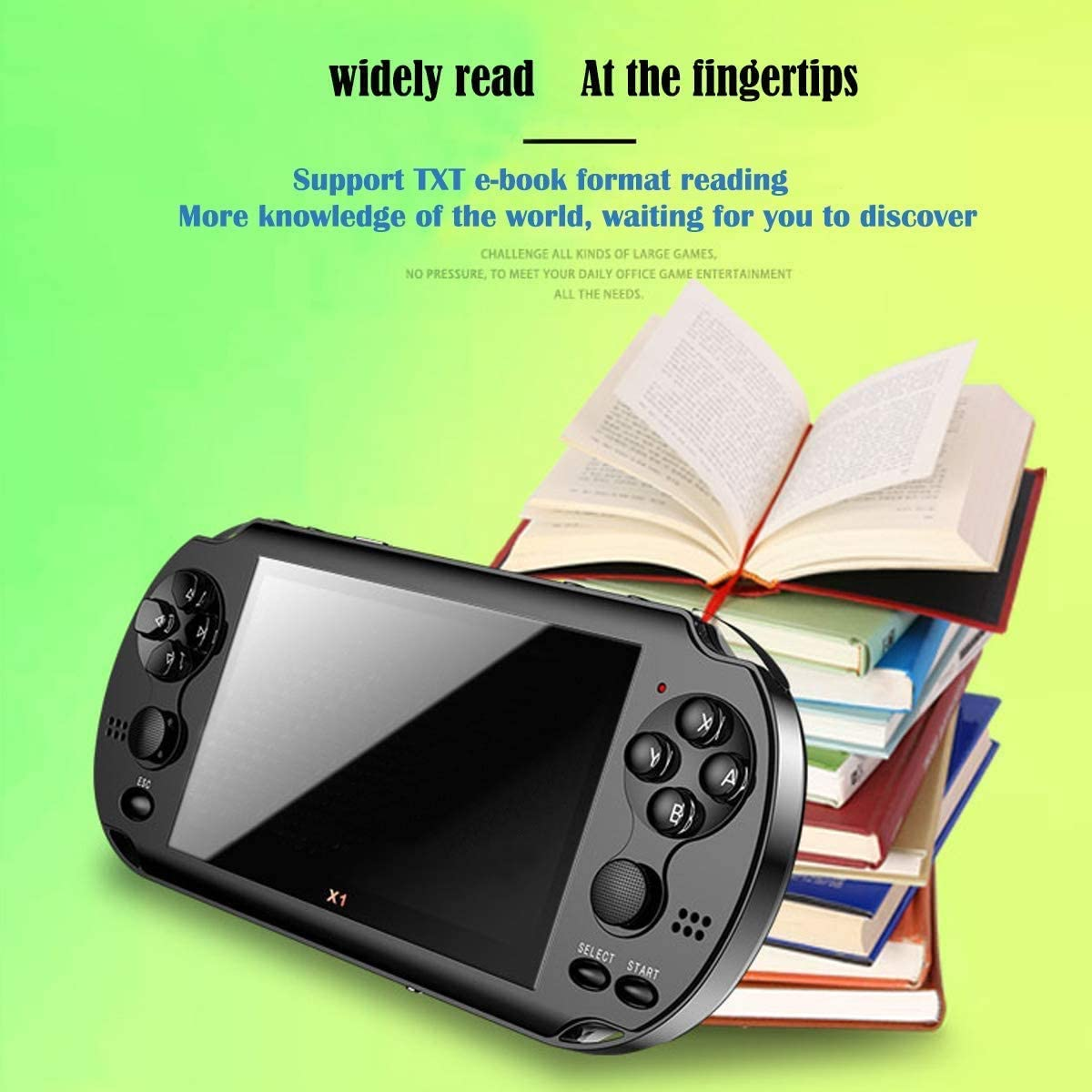 4.3inch HD Screen Retro Video Game Console huasida Handheld Video Game Console Black Nostalgic Game Console for Children and Adults Classic Game Console Portable Video Game