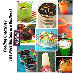 PROFESSIONAL GRADE PURE LFGB Silicone GUMMY WORM MOLD by The Modern Gummy + Dropper + RECIPE PDF | No Plastic Fillers, BPA, Chemical Coatings | 20 cavity | DIY Gummi Candy, Fishing Lure, Cake Decor