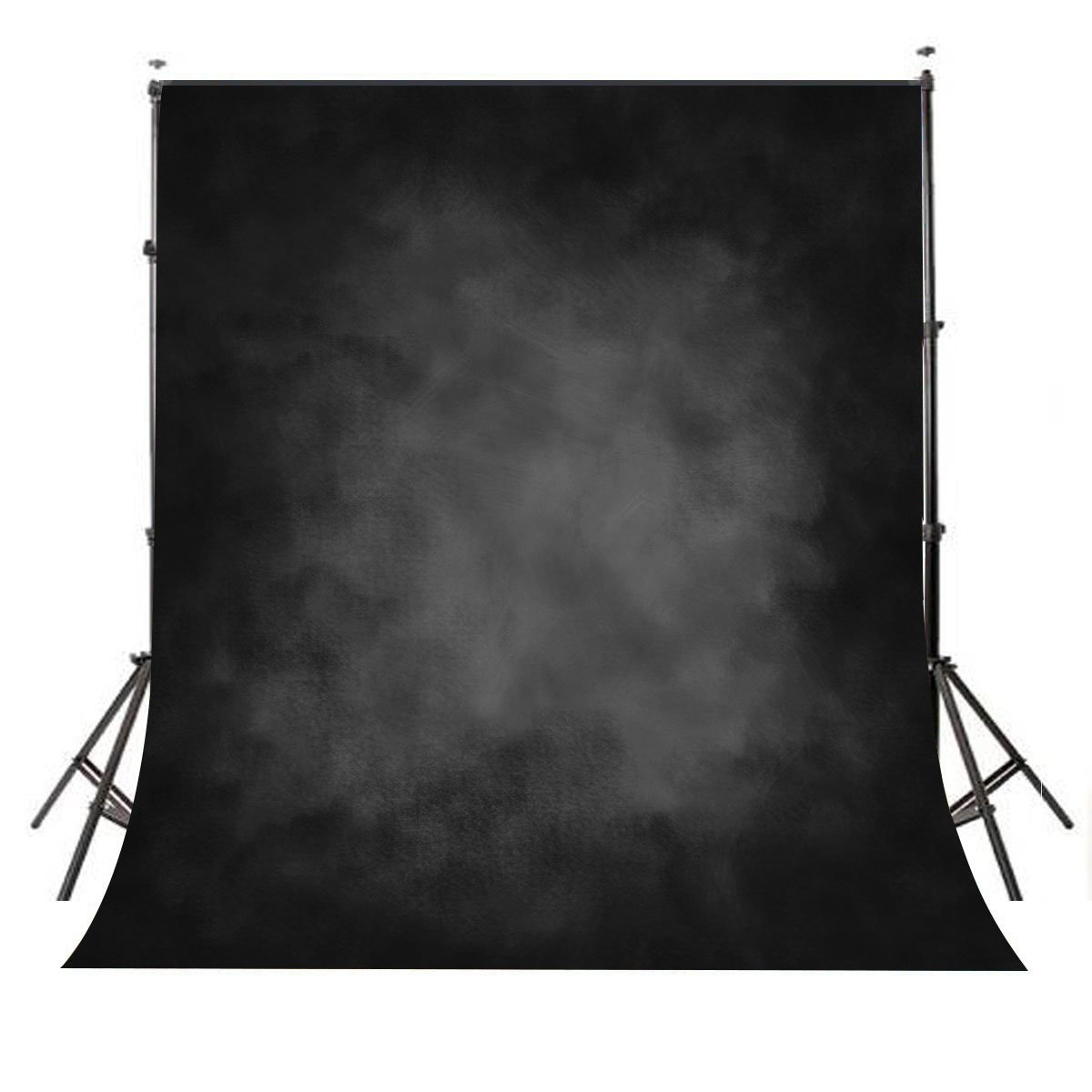 Mehofoto Retro Portrait Backdrop 5 x 7 ft Black Abstract Photography Background for Photography Studio Video Polycotton Professional Head Shots Photo Backdrops