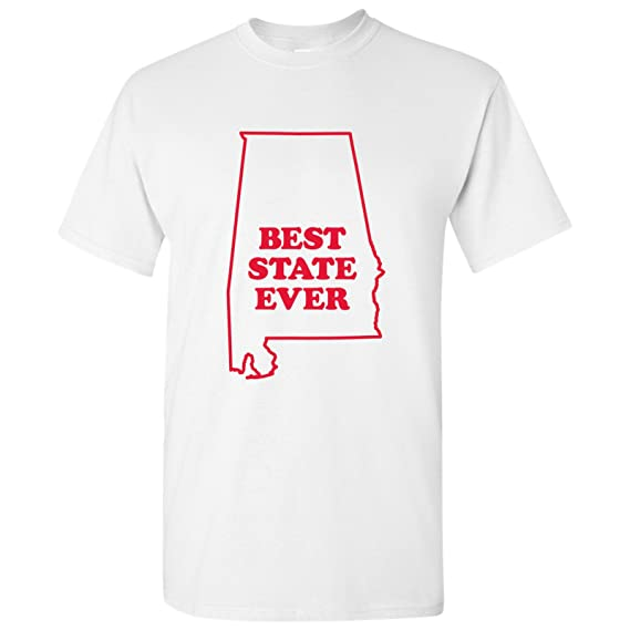 eae7b355ea3b Amazon.com: UGP Campus Apparel Best State Ever, Hometown Pride, State Pride,  Basic Cotton T-Shirt: Clothing