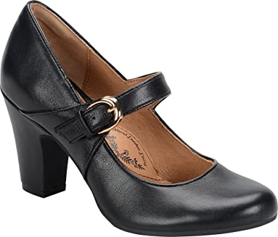 105cad21d8 Amazon.com | Sofft Women Miranda Round Toe Leather Mary Janes Black | Shoes