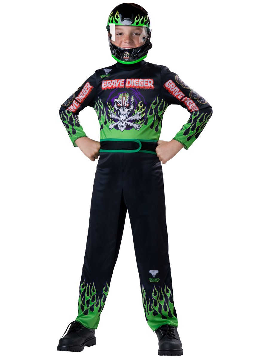amazoncom monster jam grave digger costume size 6small toys games