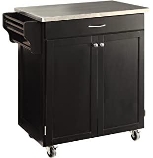 Amazon Com Ehemco Kitchen Island Cart Natural Butcher Block