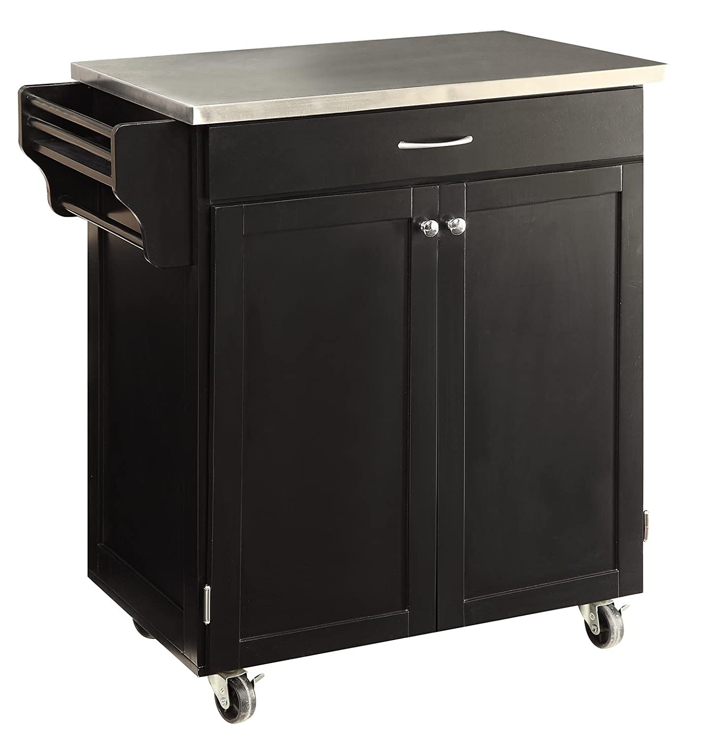 kitchen islands carts amazon com oliver and smith nashville collection mobile kitchen island cart on wheels black