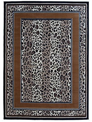 Rugs 4 Less Collection Cheetah Leopard Skin Animal Print Area Rug (5'X7')
