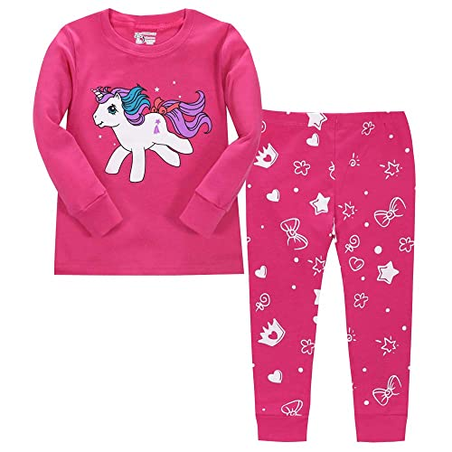 girls pyjamas long sleeve children christmas pjs gifts 100 cotton sleepwear for toddler age 1