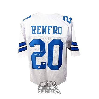 6e6b2768 Mel Renfro HOF Autographed Signed Dallas Cowboys Custom White Football Jersey  Memorabilia - JSA Authentic at Amazon's Sports Collectibles Store