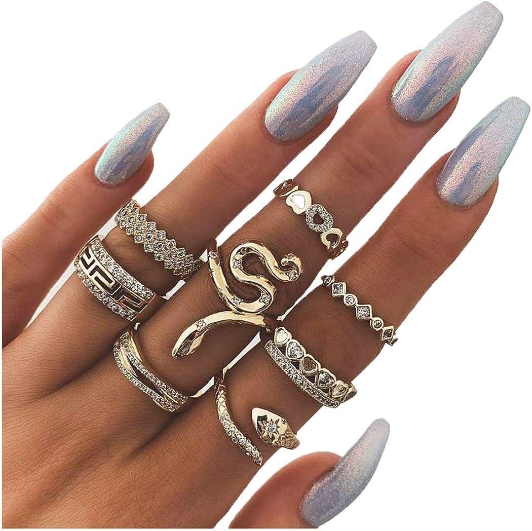 13 piece ring set boho rings bohemian ring set gold set rings snake ring set snake set rings