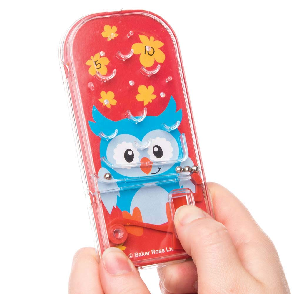 Pack of 8 Baker Ross Woodland Friends Pinball Games for Kids Party Bag Fillers