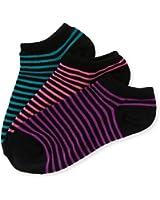 Aeropostale Womens Neon Stripe Lightweight Socks