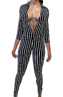 Gocgt Womens Casual Polka Dot Print Wide Leg Pants Long Jumpsuit Backless Playsuit