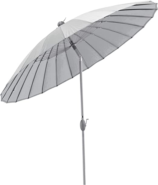 SORARA Parasol Sombrilla Jardin, Gris, Ø 260 cm: Amazon.es: Jardín