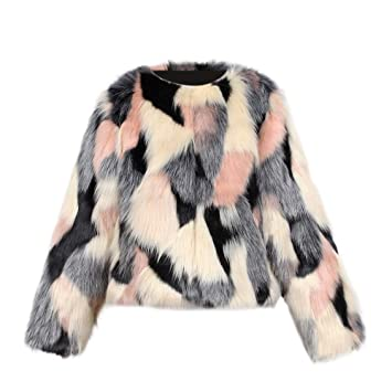 1d8ee5cec95 Amazon.com : Toddler Baby Girls Kids Winter Faux Fur Coat Jacket Thick  Outwear Clothes (Age:2-3 Years, Pink) : Beauty