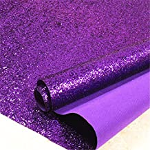 Purple Chunky Glitter Wallpaper , 3D Sparkly Glitter Fabric Wall Paper ,Bling Wallcovering (Purple)