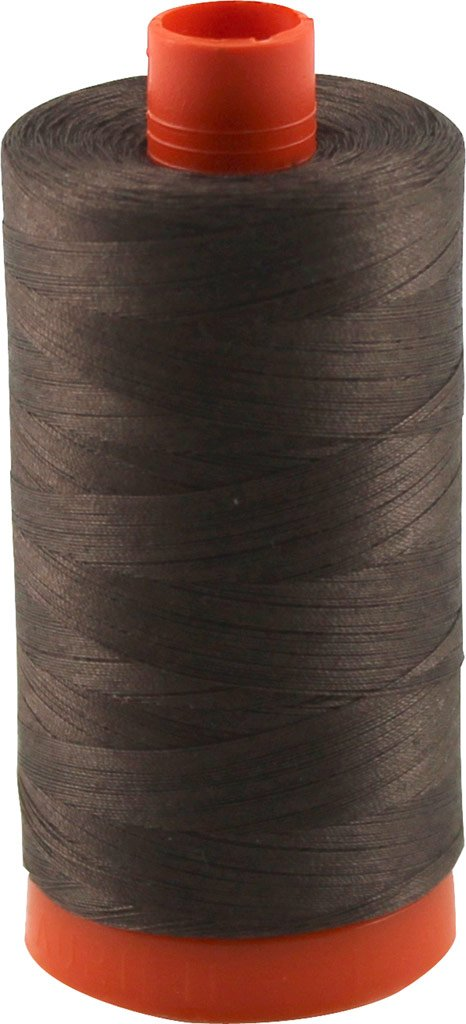 Aurifil 50wt Mako Cotton Thread 1,422 yards Bark Brown A1050-1140
