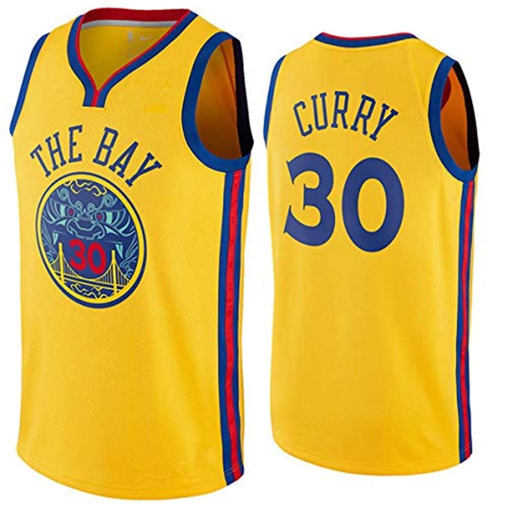 Bnaqly NBA Warriors Golden State #30 Stephen Curry - Camiseta de ...