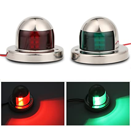Cheap Sale 1pair 12v Marine Boat Yacht Led Bow Navigation Light Stainless Steel Red Green Sailing Signal Light Automobiles & Motorcycles