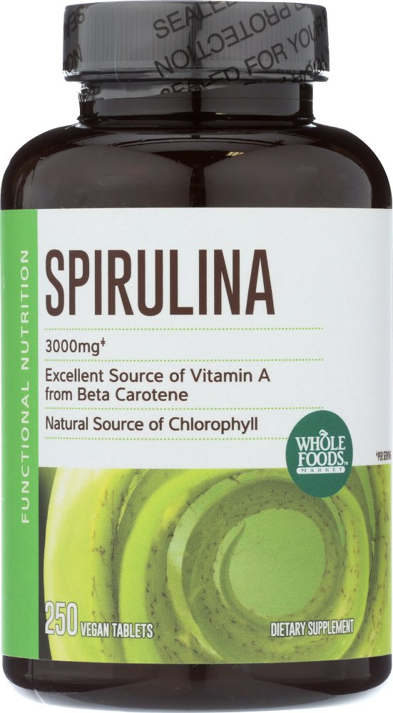 Whole Foods Market, Spirulina 500mg, 250 ct