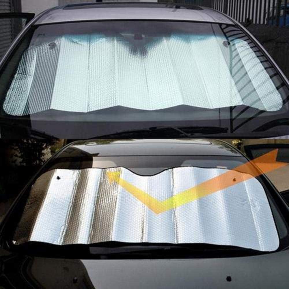 Staub EIS BeneU Frontscheibenabdeckung,Scheibenabdeckung Auto Abdeckung Sonnenschutzabdeckung Faltbare Abnehmbare Windschutzscheibe Perfekte Gegen UV-Strahlung Sonne Schnee 140X70Cm
