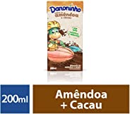 Bebida vegetal sem lactose amêndoa e cacau Danoninho 200ml