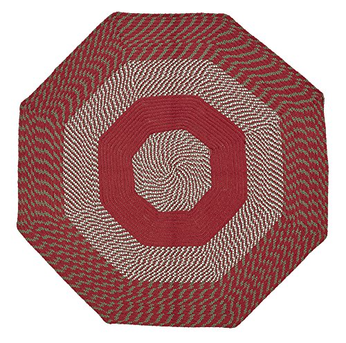 Rug Barn Braided Red (Better Trends/ Pan Overseas BRNP4OCTBO Newport Braided Rug Not Applicable, 4' Octagonal, Barn Red)