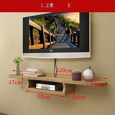 BAIYIQ - Mueble de Pared Flotante para TV, Estante de Pared para TV, Sala de Estar, TV, decoración de Pared, Consola Multimedia, Consola Flotante para TV, Material, E, Size: Amazon.es: Hogar