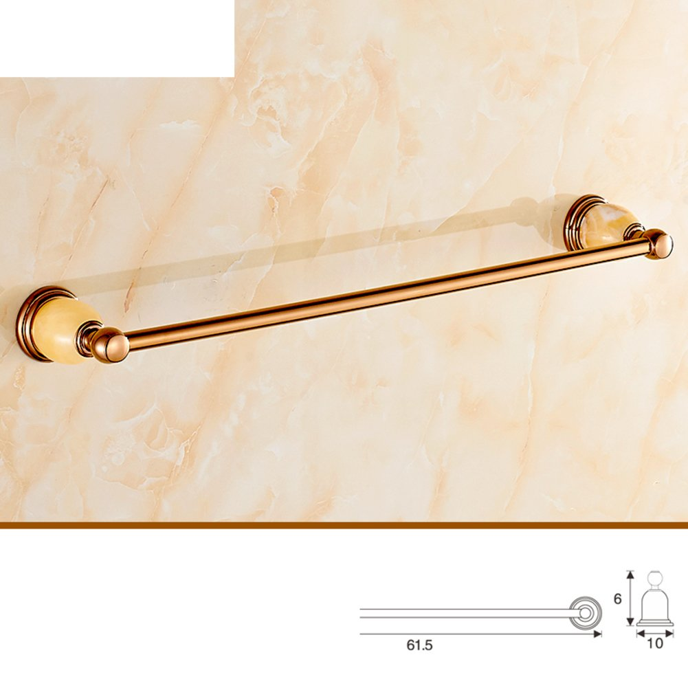 Brass Bathroom Accessories European Style Rose Gold Towel Rack Towel Rack Jade Set Bathroom
