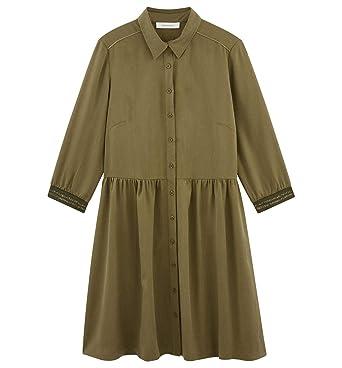En Promod Lyocell Robe Et FemmeVêtements c34Sq5jRLA