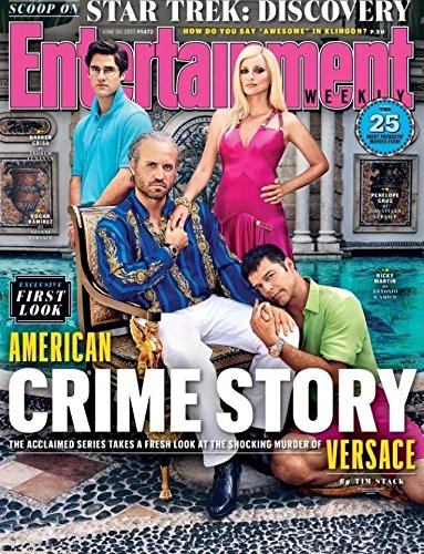 Entertainment Weekly Magazine (June 30, 2017) Versace American Crime - Versace Retro